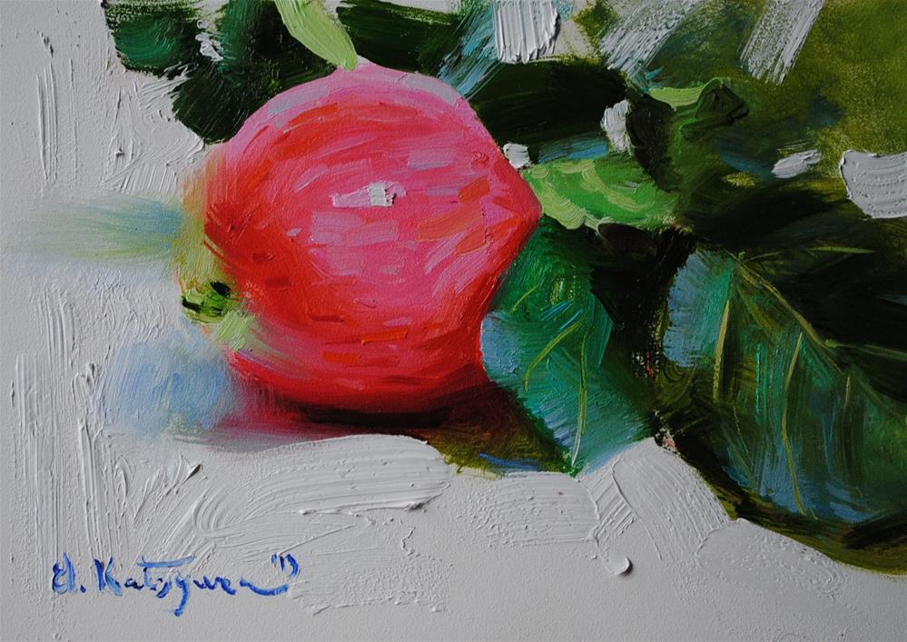 """Fresh Apple"" original fine art by Elena Katsyura"