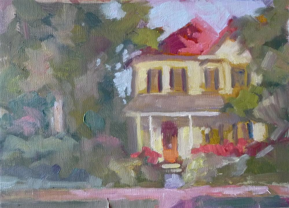 """Yellow House"" original fine art by Carol Josefiak"