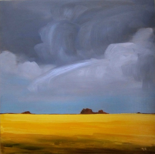 """Severe Weather Warning"" original fine art by Nicki Ault"