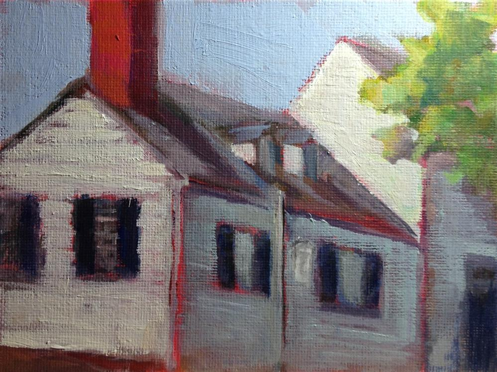 """Home of Mary Washington"" original fine art by Carol Josefiak"