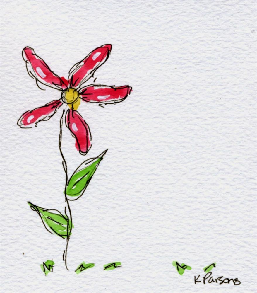 """One Flower"" original fine art by Kali Parsons"