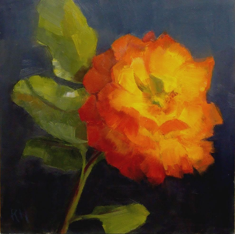 """Early Rose"" original fine art by Rebecca Helton"