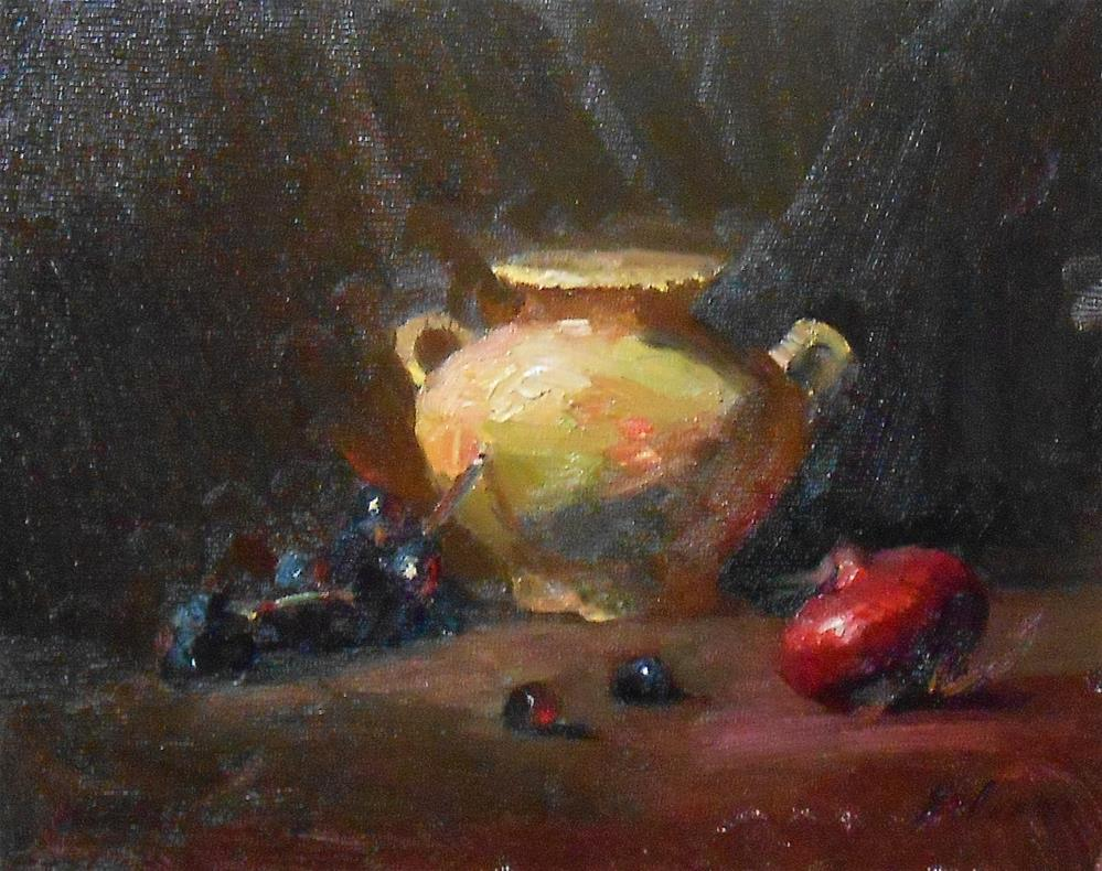 """The Yellow Jar"" original fine art by Kelli Folsom"