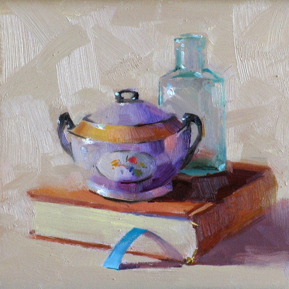 """Purple Sugar Bowl"" original fine art by Qiang Huang"
