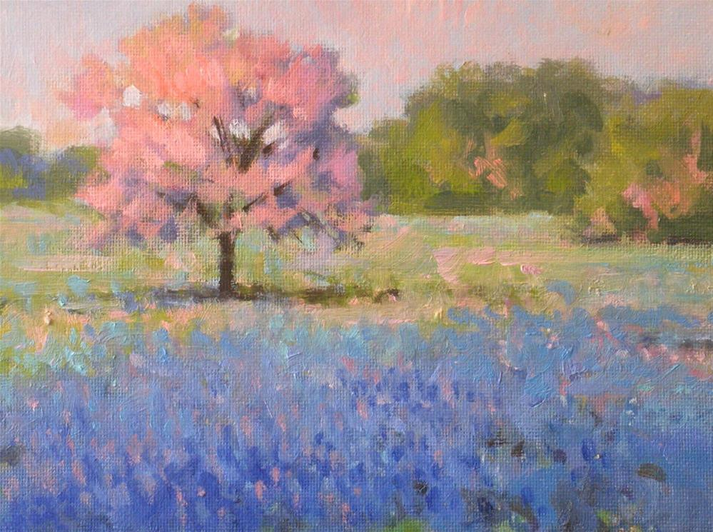 """Pink and Blue"" original fine art by David Forks"