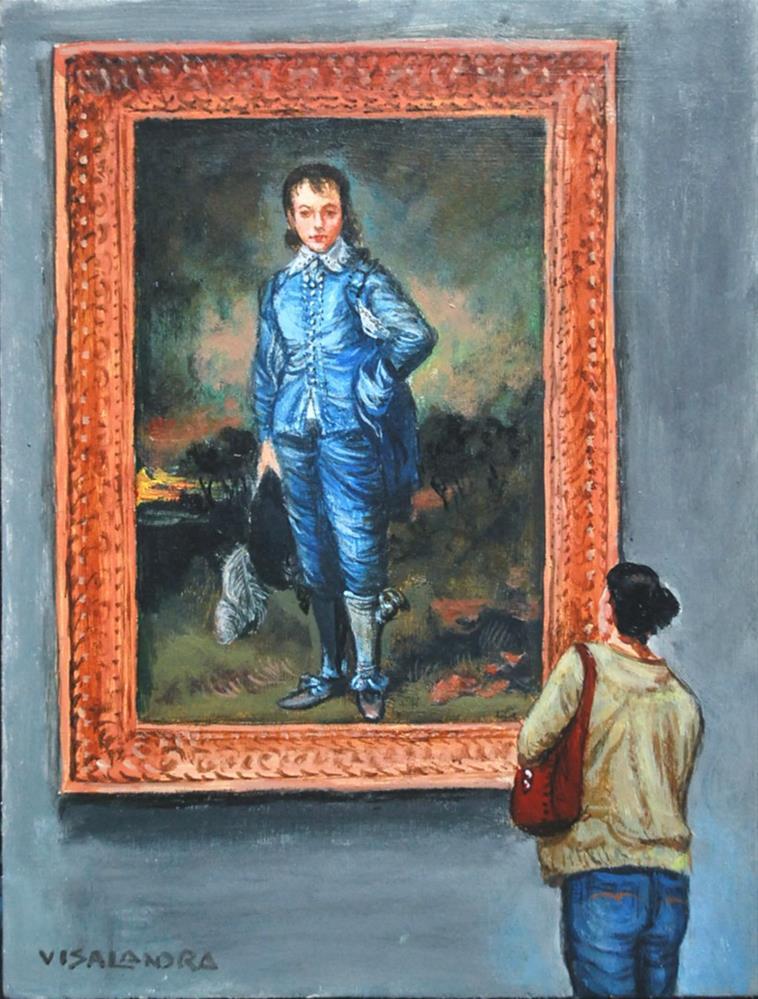 """Blue Boy"" original fine art by vishalandra dakur"