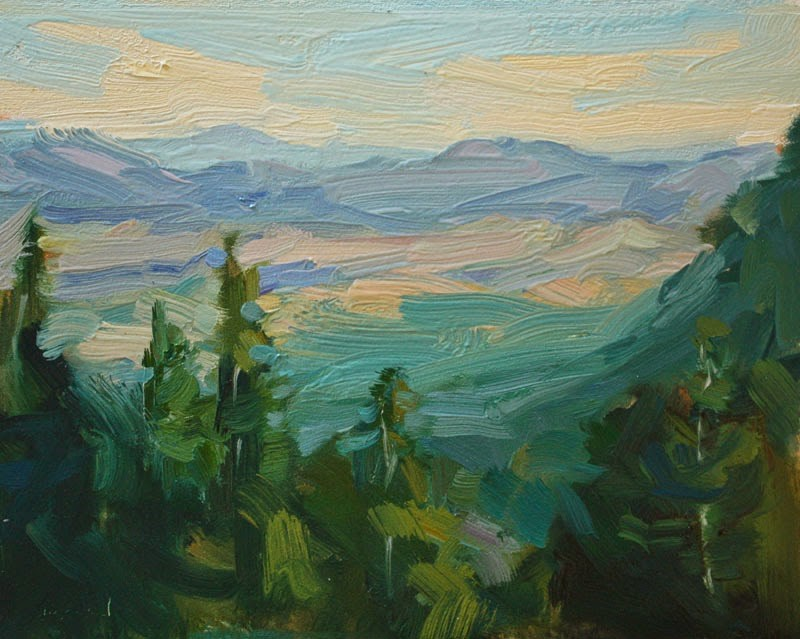 """Above the Turquoise Trail - SOLD"" original fine art by Kathryn Townsend"