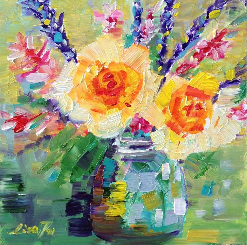 """Yellow Roses"" original fine art by Lisa Fu"