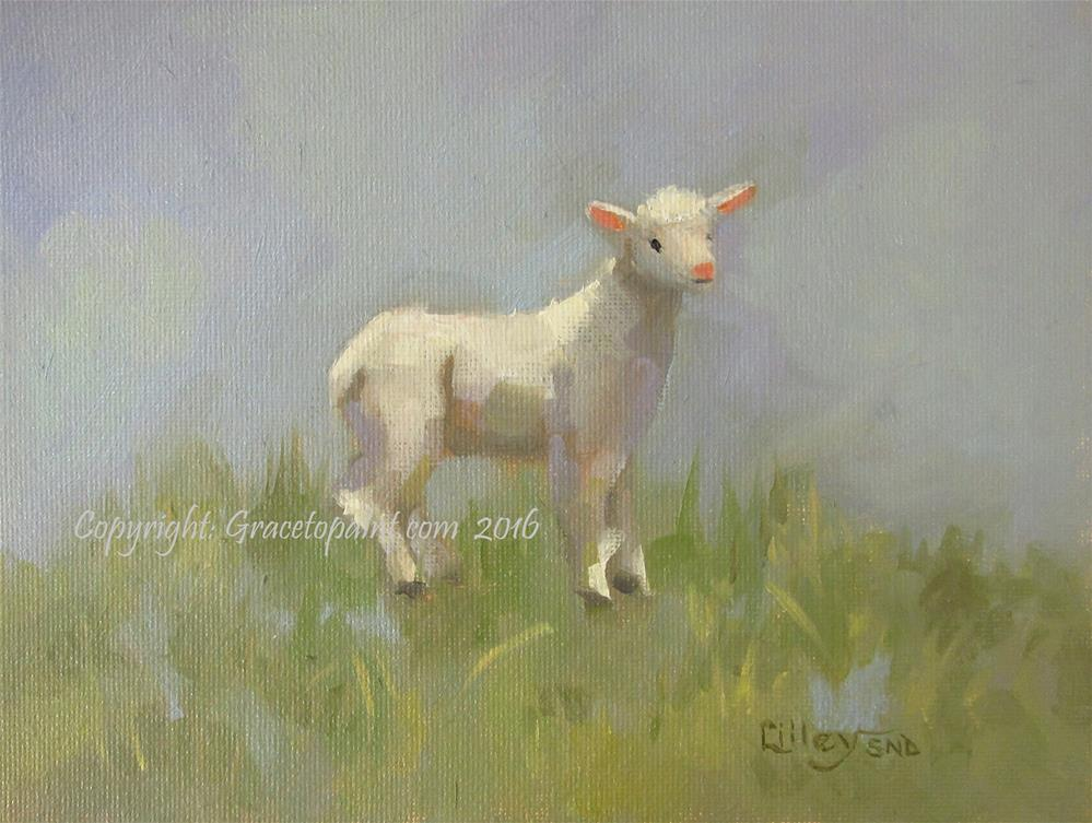 """Lamb#13"" original fine art by Maresa Lilley"