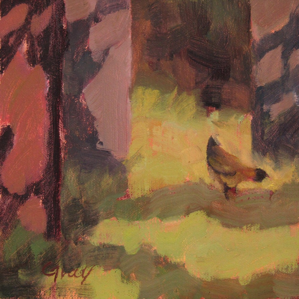 """Outing with Kara the Hen"" original fine art by Naomi Gray"