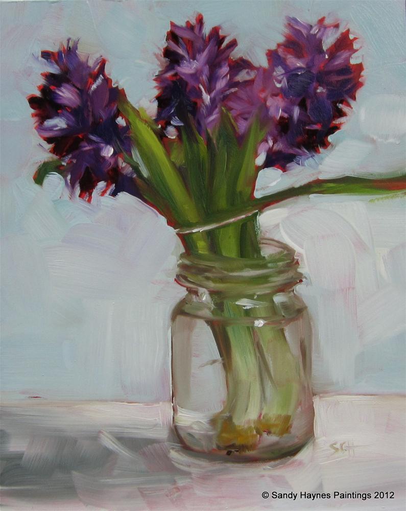 """Hyacinths in January"" original fine art by Sandy Haynes"
