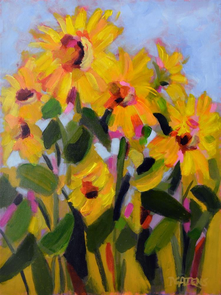 """Tall Suns"" original fine art by Pamela Gatens"