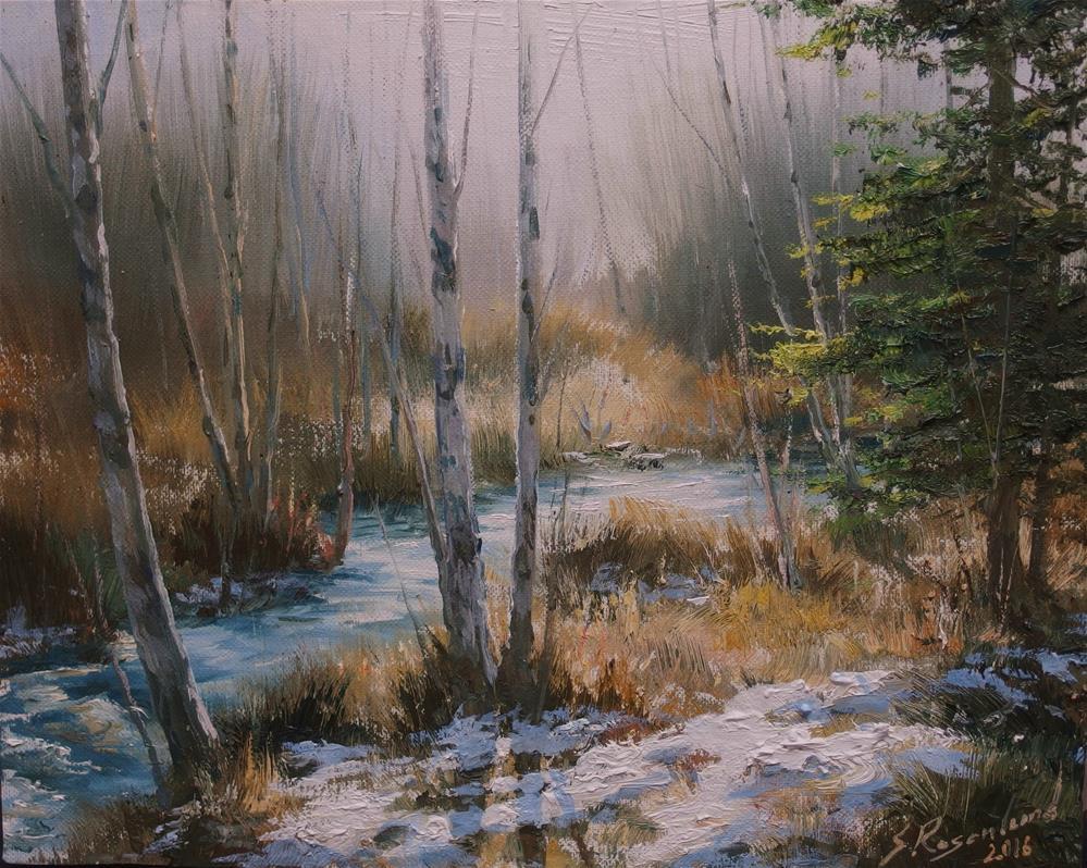"""""""Early in spring"""" original fine art by Stig Rosenlund"""