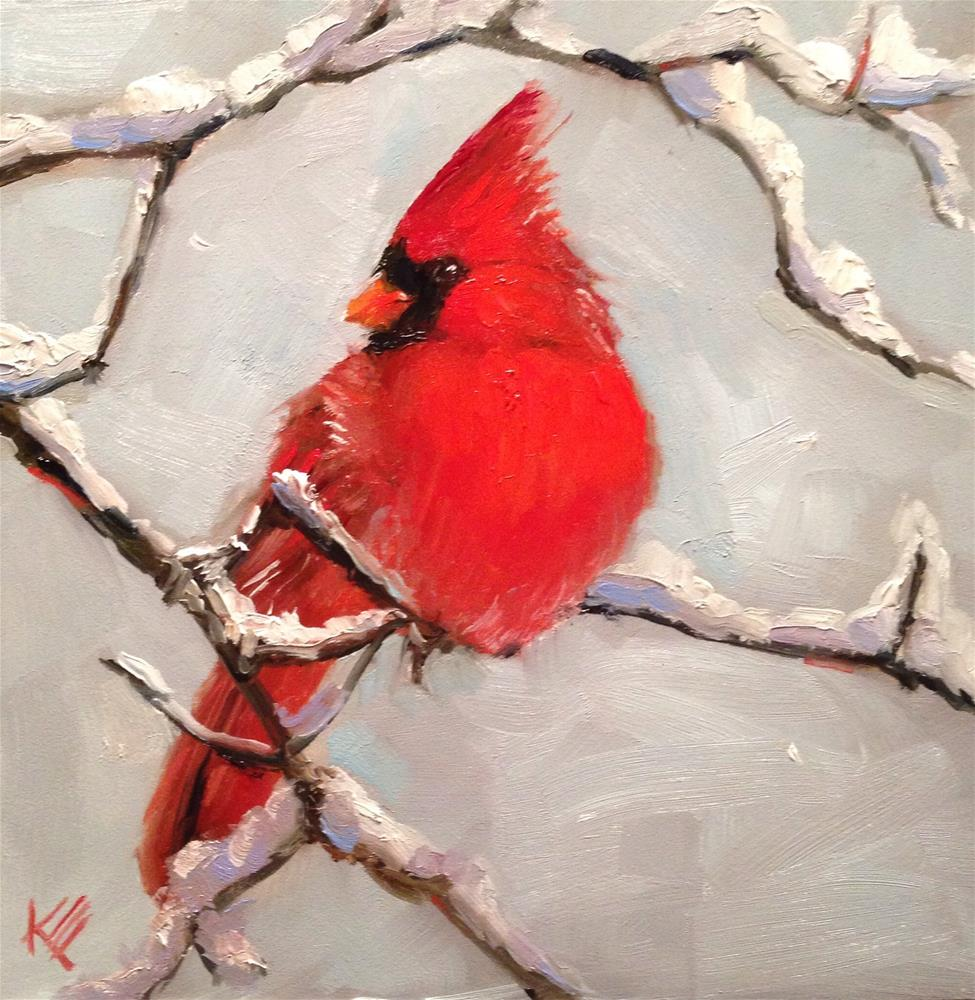 """Winters Arrival"" original fine art by Krista Eaton"