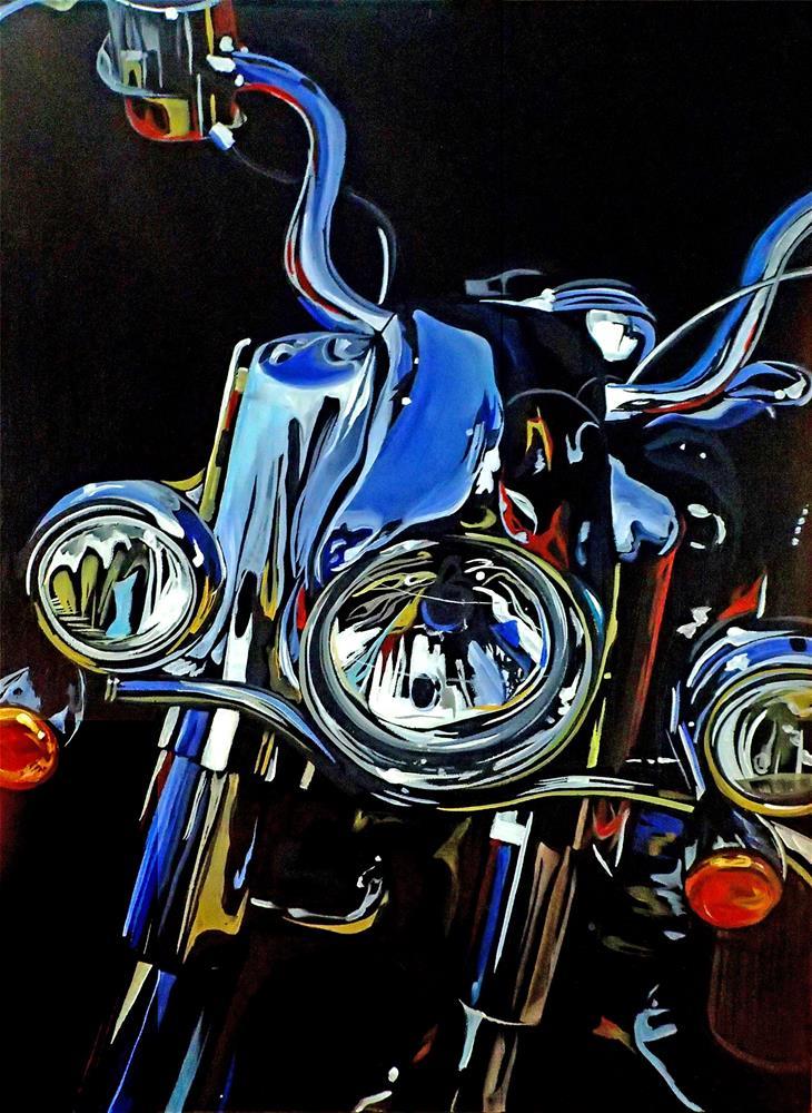 """""""Chopper"""" original fine art by Lauren Kuhn"""