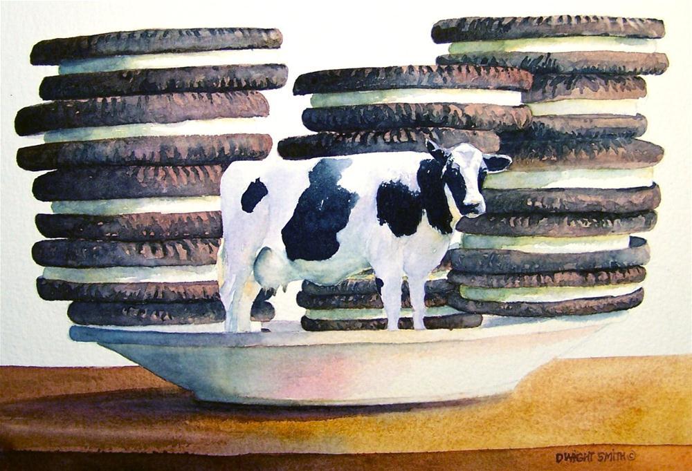 """ MILK & COOKIES "" original fine art by Dwight Smith"