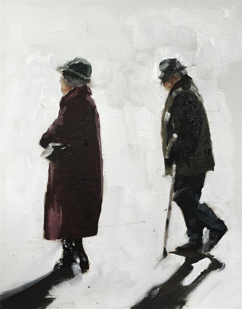 """Old Couple"" original fine art by James Coates"