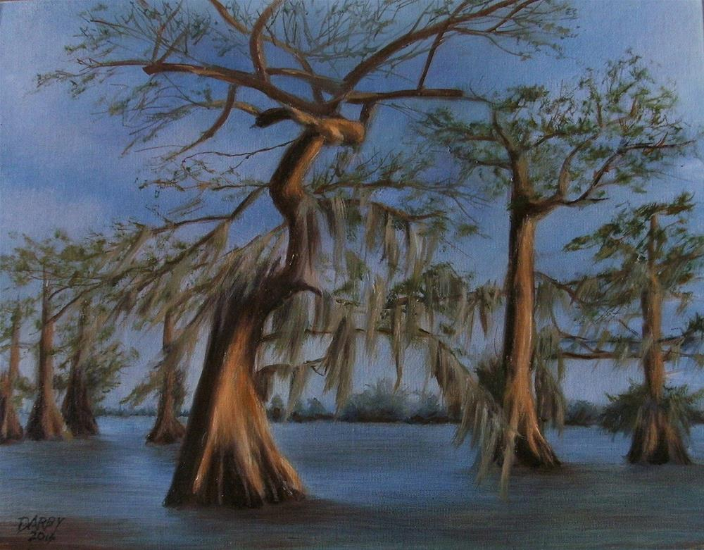 """Parade of the Cypress"" original fine art by Lynn Darby"
