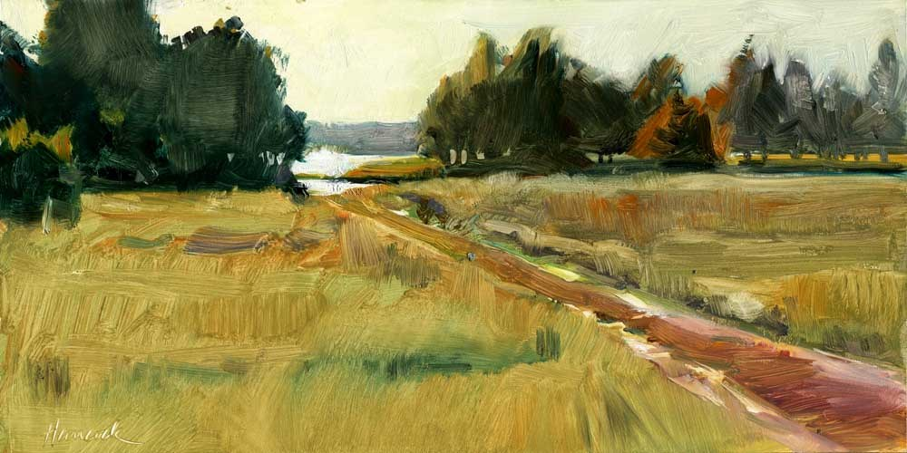 """Near Willapa Bay"" original fine art by Gretchen Hancock"