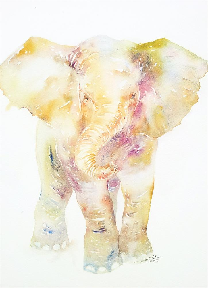 """Baby Ellie"" original fine art by Arti Chauhan"
