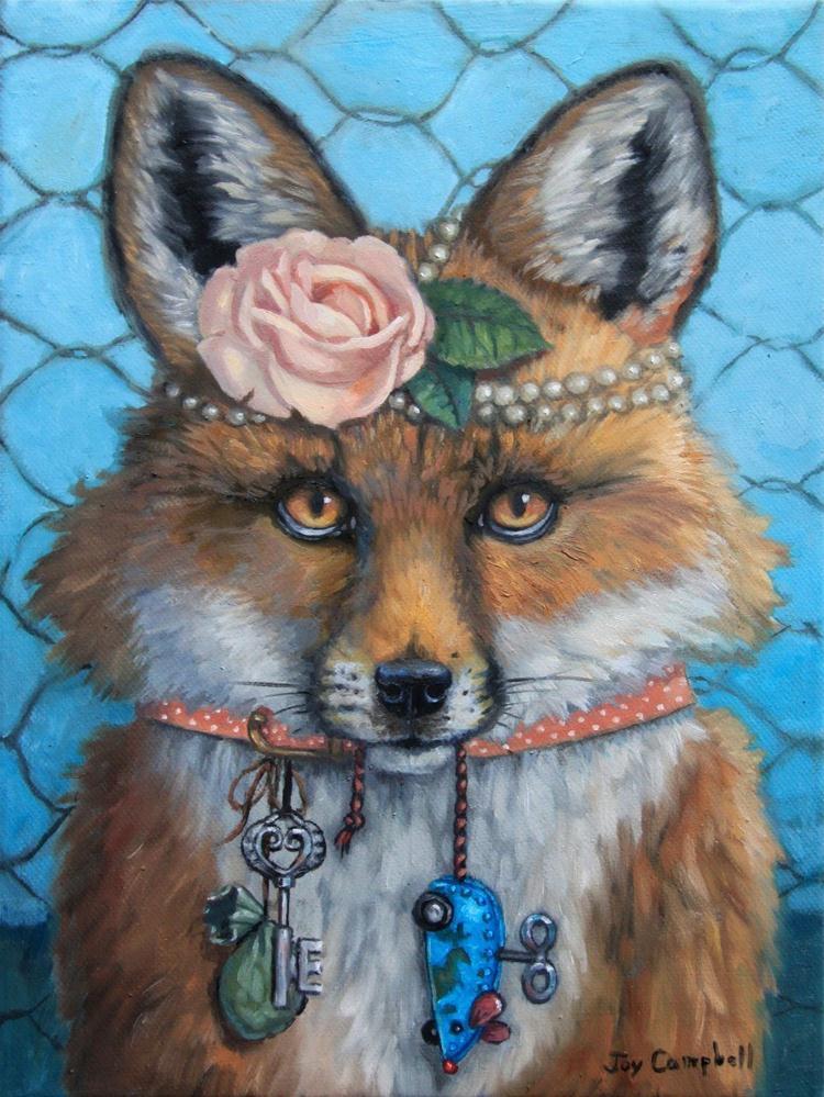 """Pretending to be a Dog"" original fine art by Joy Campbell"