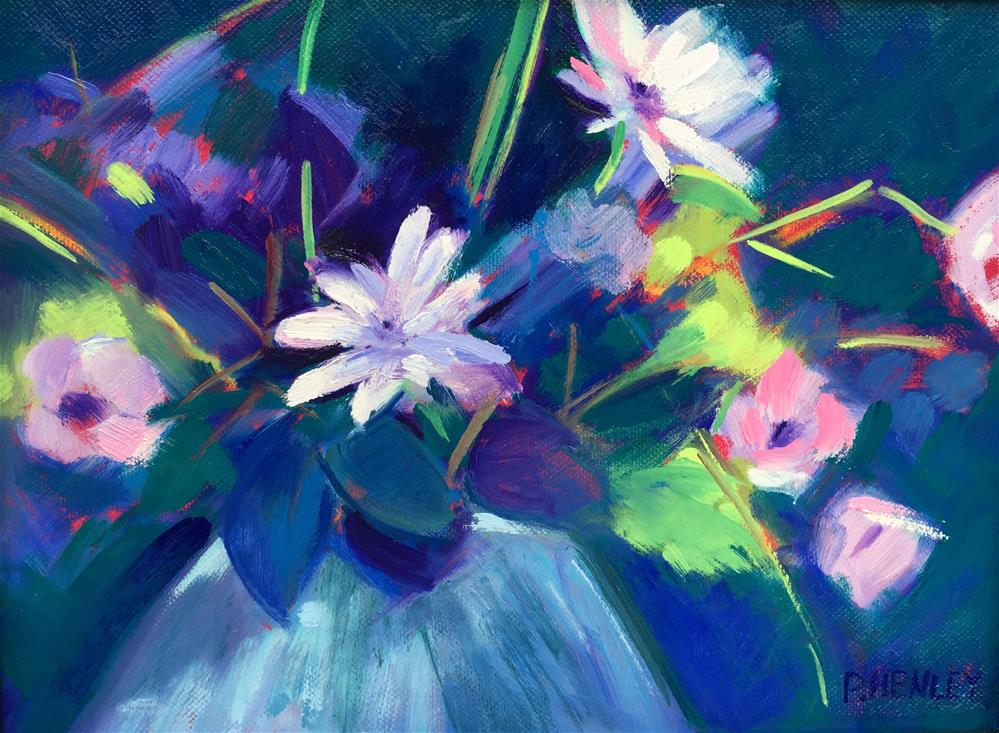 """Blue Bouquet"" original fine art by Patti Frasier"