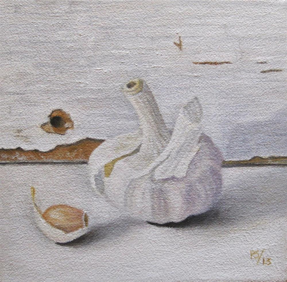 """Garlic on White"" original fine art by Pera Schillings"