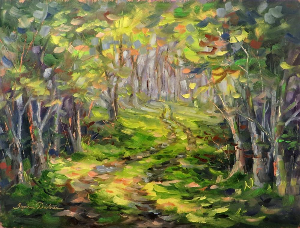"""Light through the Trees"" original fine art by Tammie Dickerson"