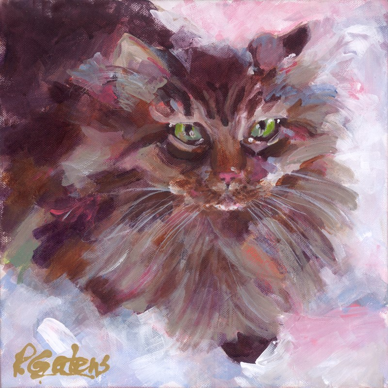 """Mufasa - The Maine Coon"" original fine art by Pamela Gatens"