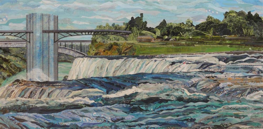 """Over the American Falls"" original fine art by Cynthia Frigon"