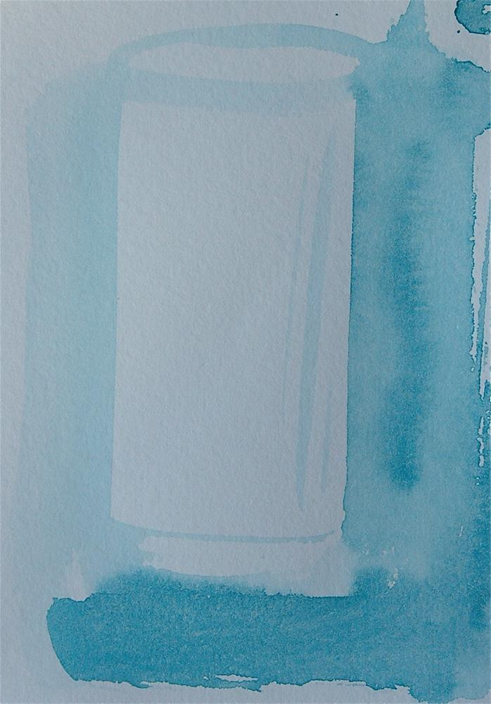 """Small waterglas"" original fine art by Ulrike Schmidt"