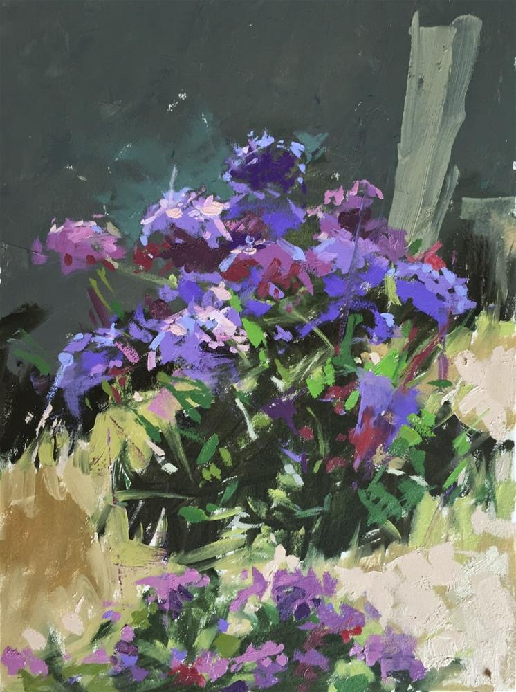 """California flowers"" original fine art by Haidee-Jo Summers ROI"