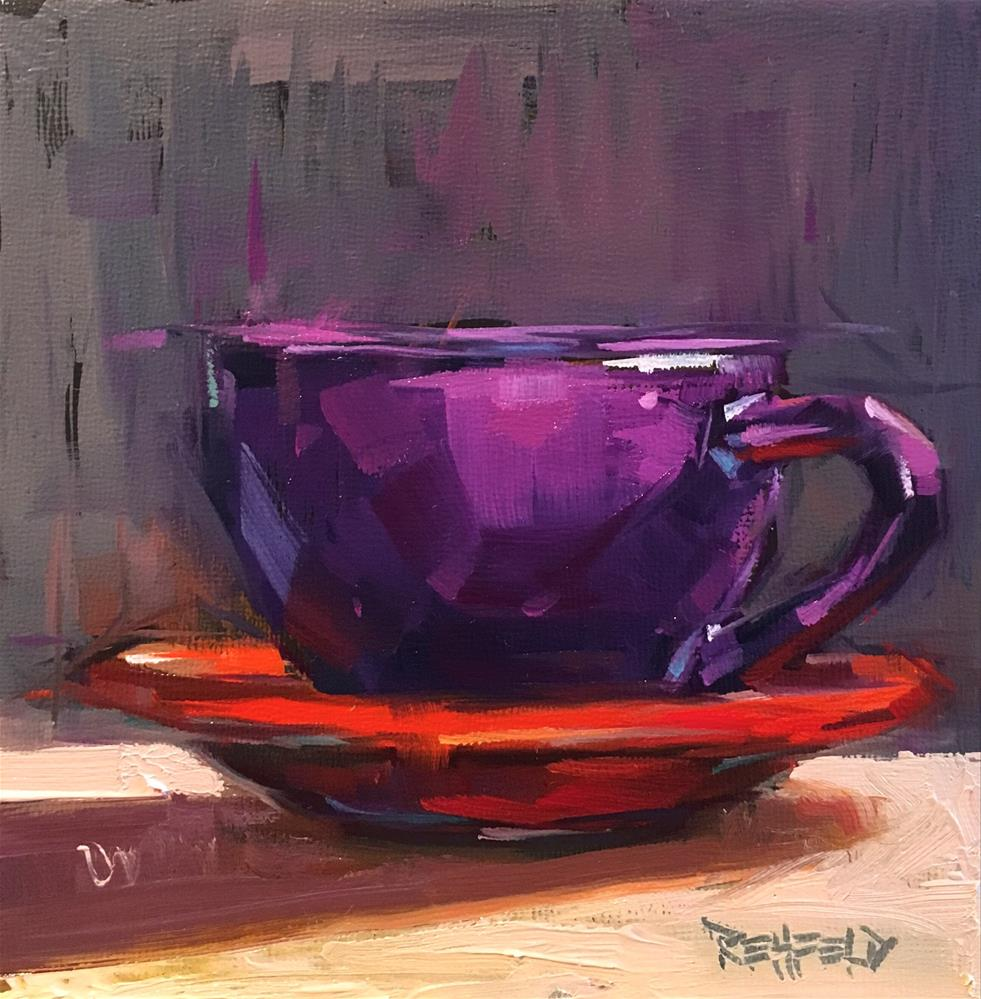 """The Purple Cup"" original fine art by Cathleen Rehfeld"