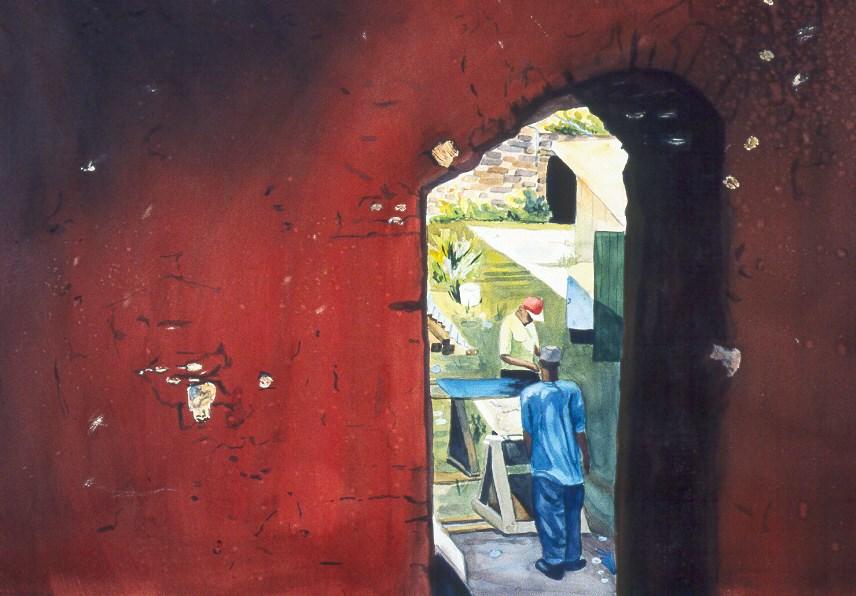"""""""Ancient Wall"""" original fine art by Carol Cochran"""