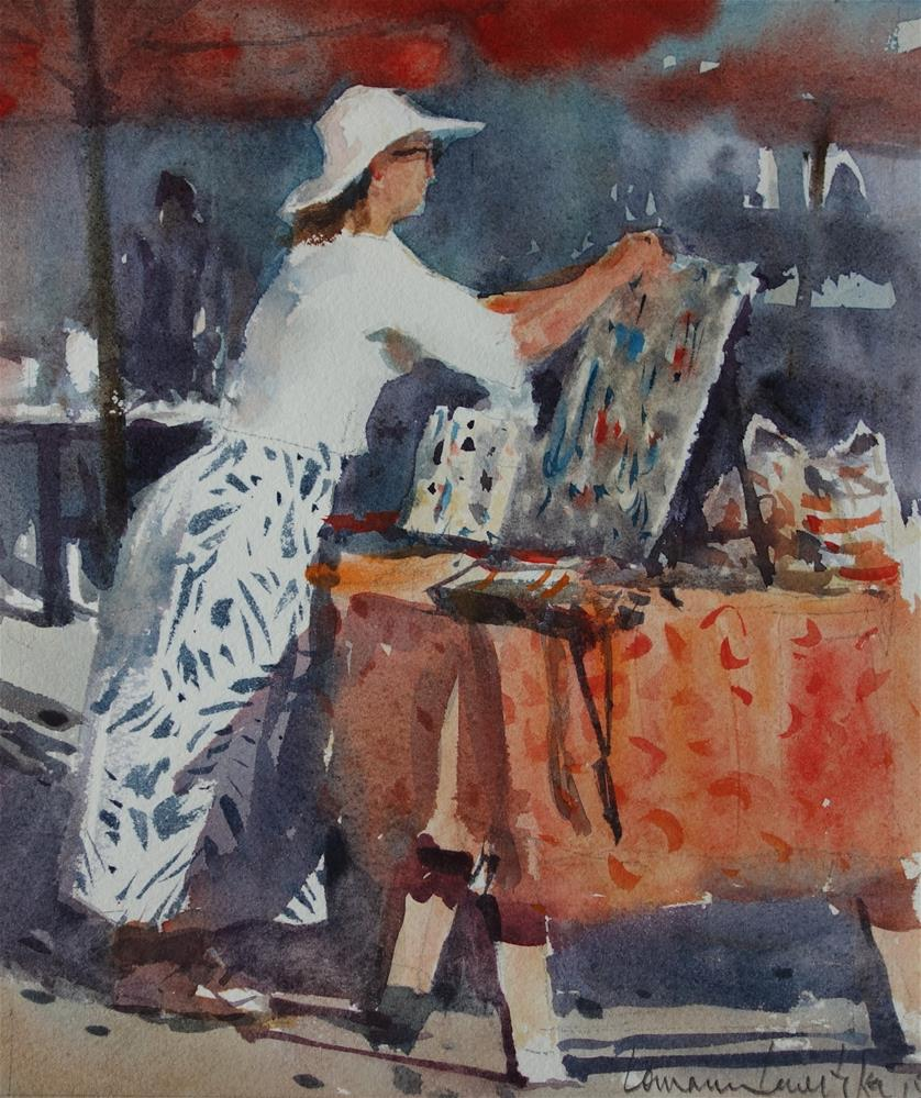 """The Jewellry Maker"" original fine art by Lorraine Lewitzka"