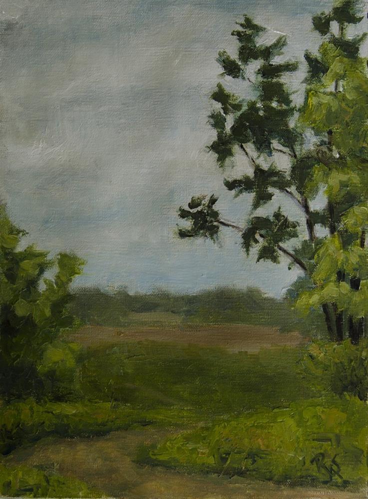 """Road and Field Spring 2016"" original fine art by Rachel Steely"