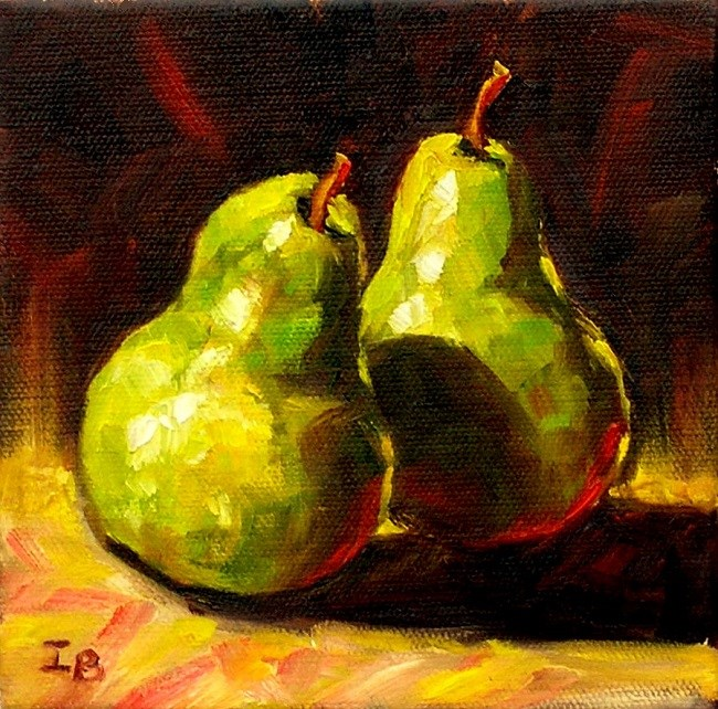 """Pears"" original fine art by Irina Beskina"