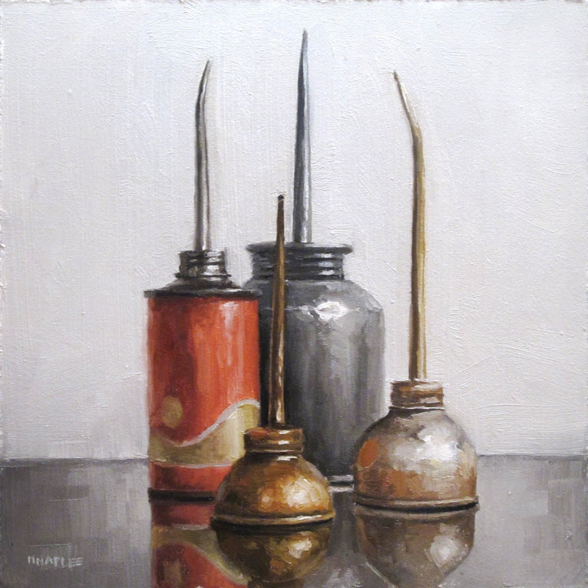 """Oil Can Cityscape"" original fine art by Michael Naples"