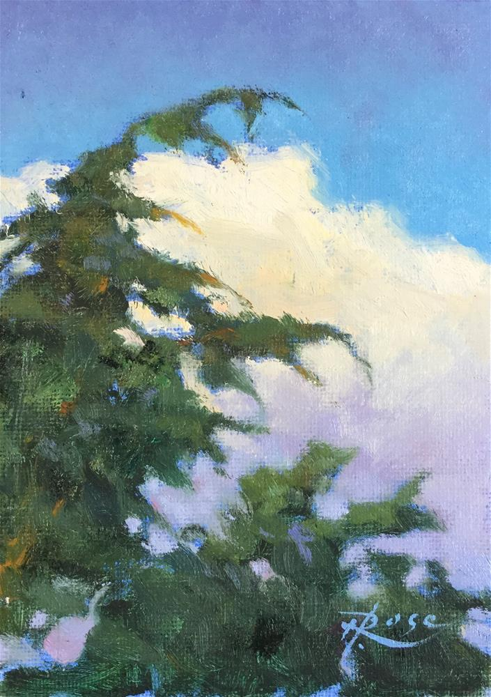 """Evergreen at Planting Fields"" original fine art by Howard Rose"