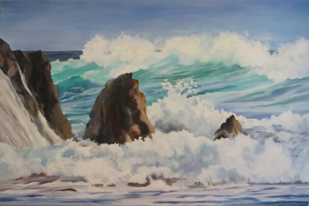 """Relax at the ocean"" original fine art by Janice Cook"