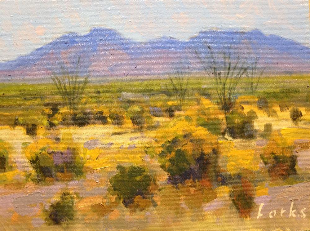 """Chisos and Desert"" original fine art by David Forks"