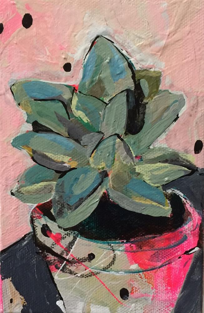 """Potted Succulent"" original fine art by Jenny Doh"