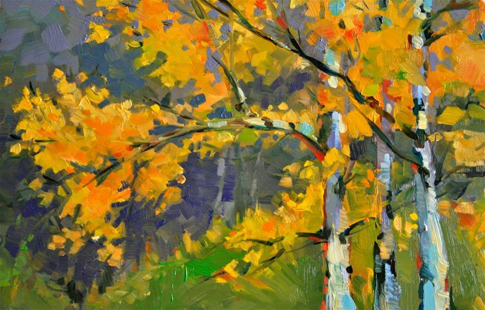"""Fall Birches"" original fine art by Jane Robertson"