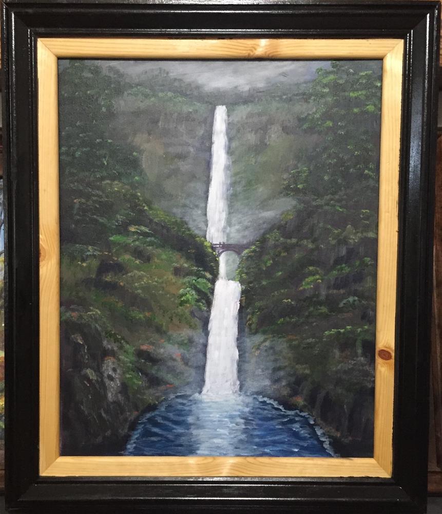 """Multnomah falls"" original fine art by Roger Johnson"