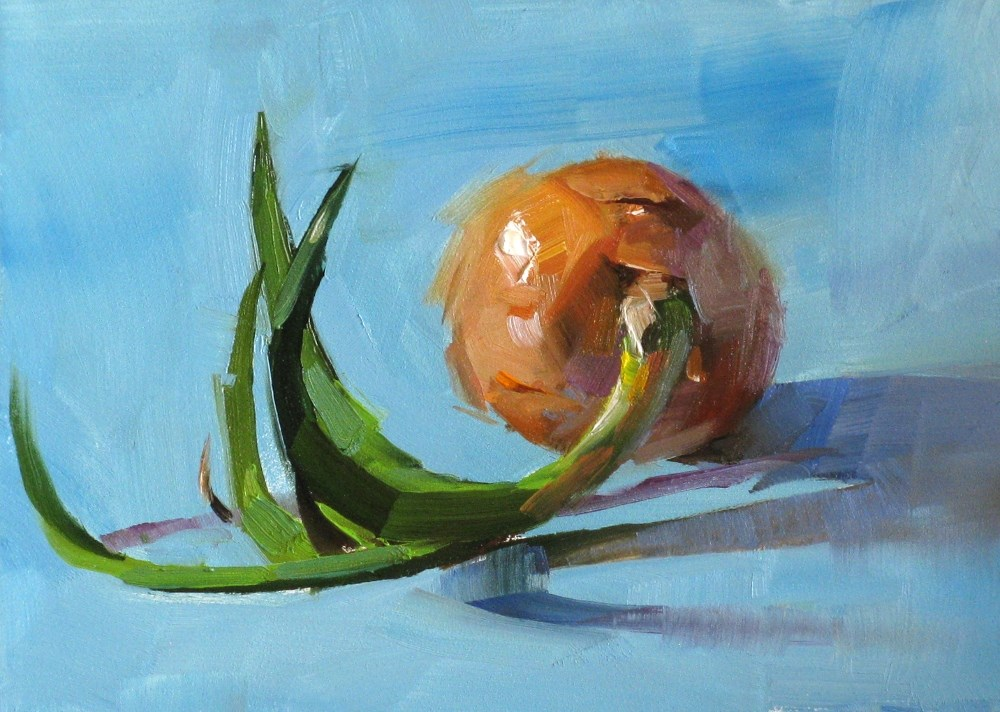 """Lonely Onion"" original fine art by Qiang Huang"