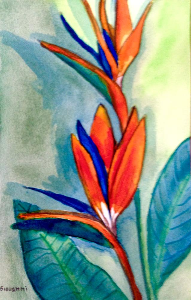 """Ave del Paraiso (Bird of Paradise flower)"" original fine art by Giovanni Antunez"