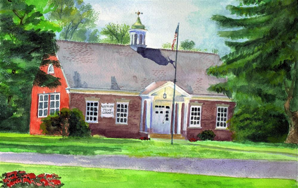 """Westernville Library"" original fine art by Lynne Reichhart"