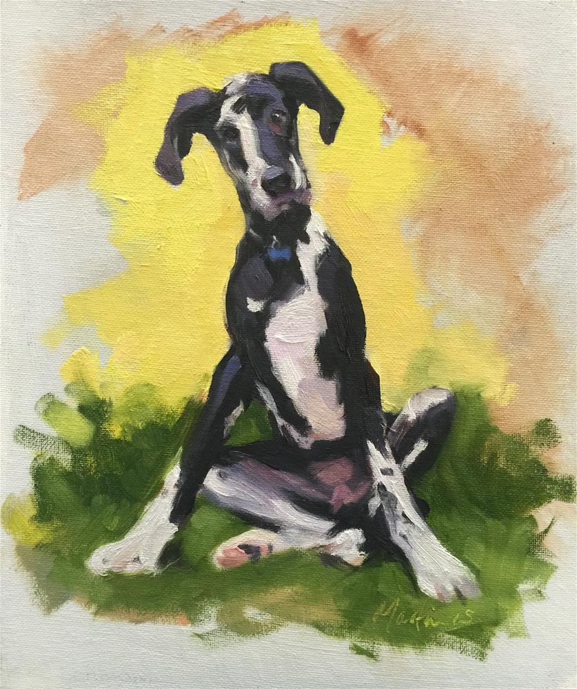 """'Pat' - the dog"" original fine art by Chris Martin"