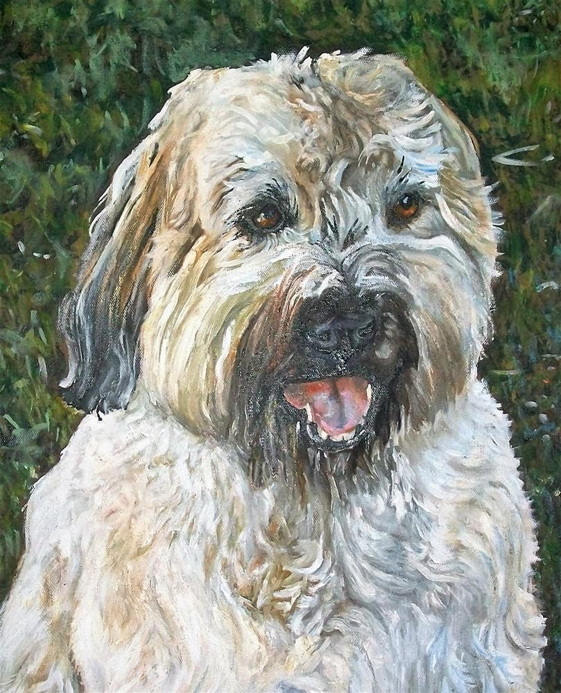 """A fluffy moush dog"" original fine art by tara stephanos"