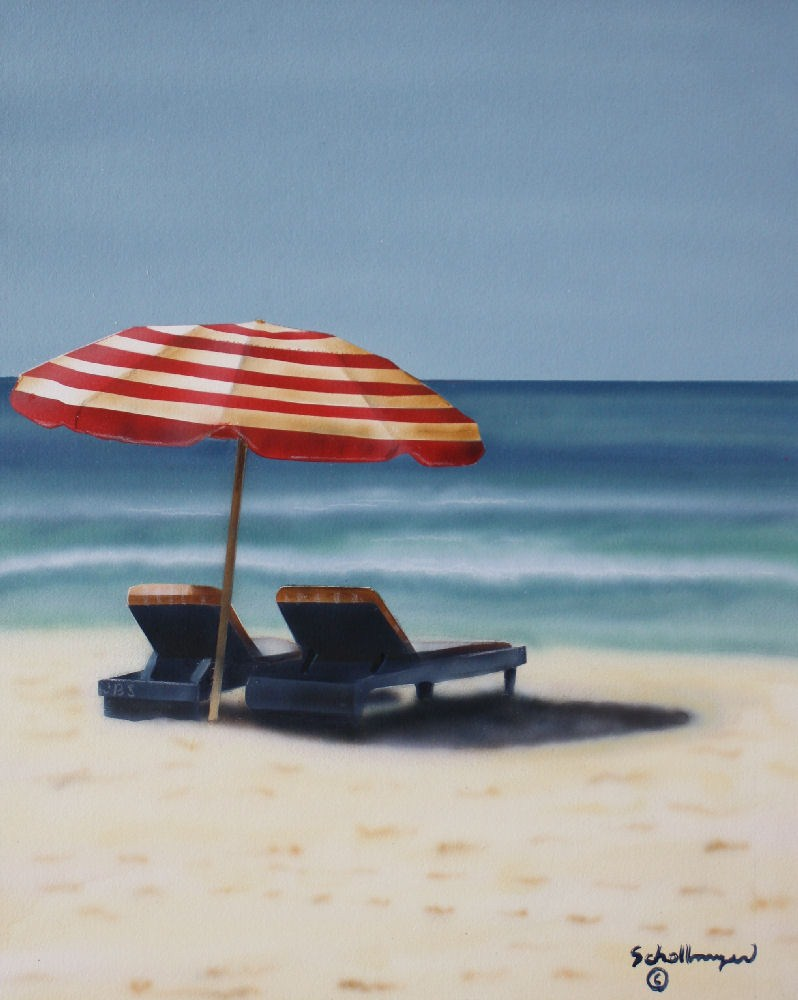 """Beaches in Mind"" original fine art by Fred Schollmeyer"